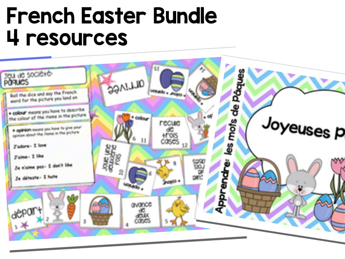 Easter board game paques. French clipart ks2