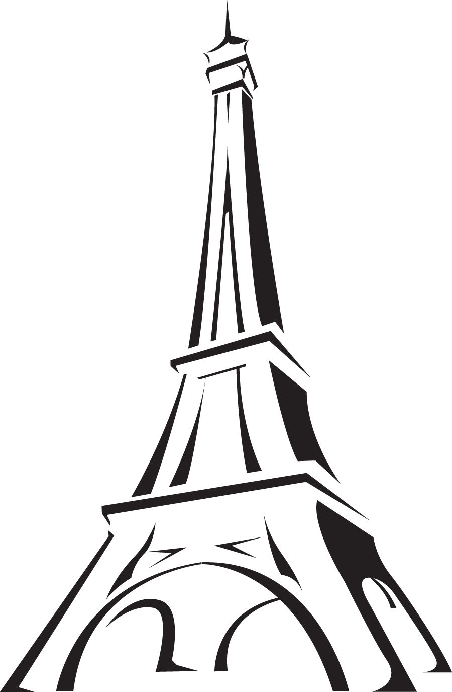 France clipart line. Image the eiffel tower