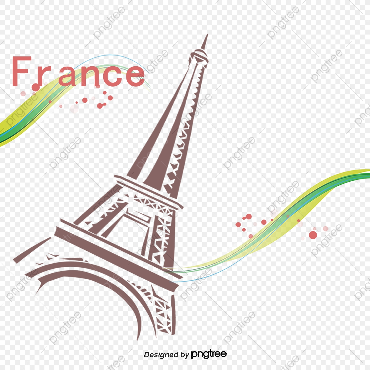 France clipart line. Lines eiffel tower png