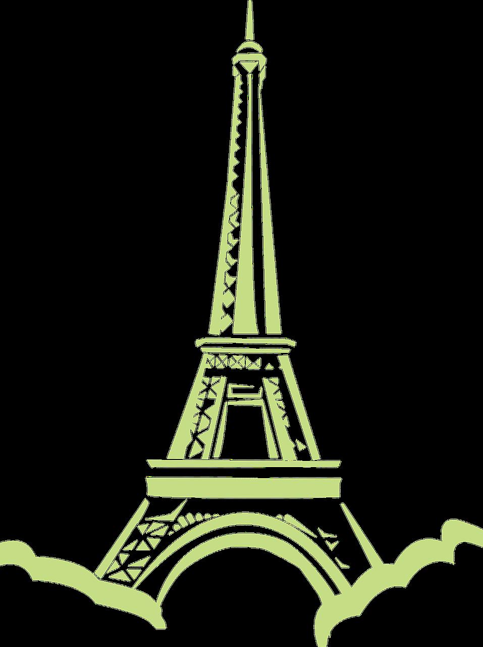 Eiffel tower eiffeltower. France clipart paris vintage