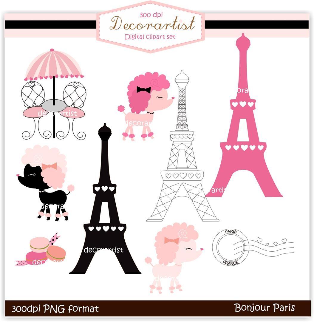 Free download clip art. Paris clipart pink