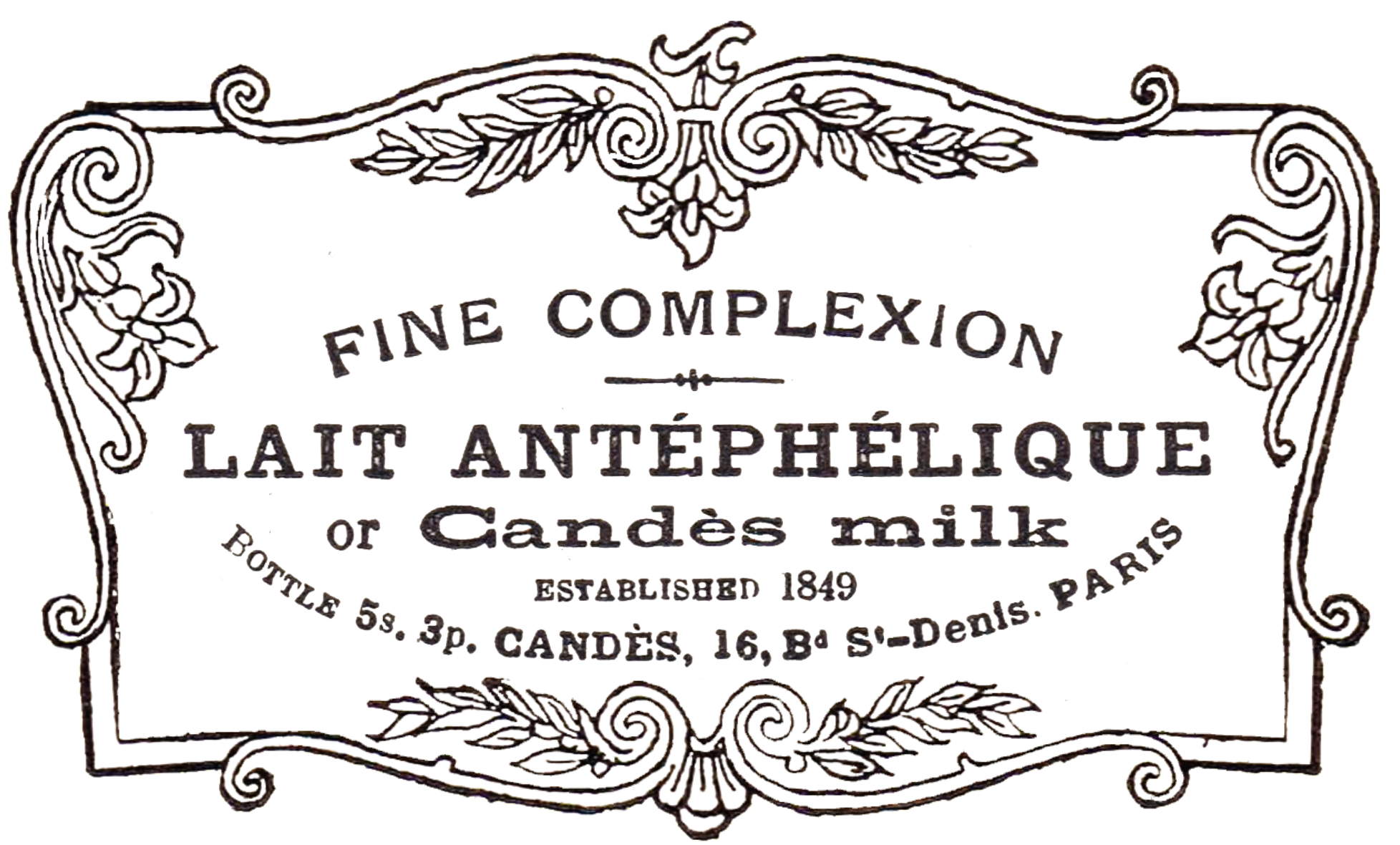 Antique advertisement in fancy. France clipart patisserie french