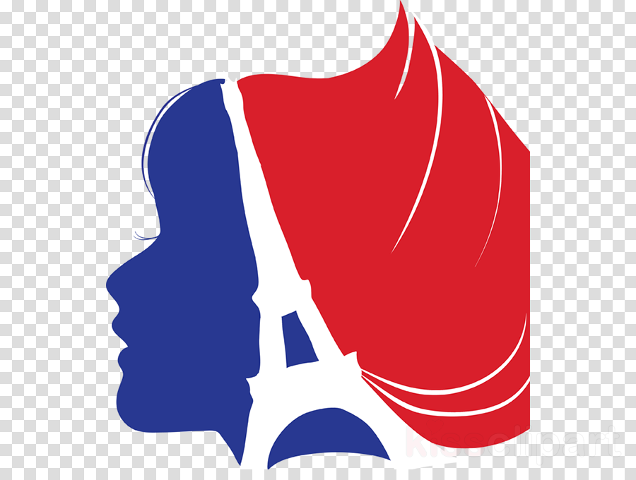 School logo font line. France clipart red