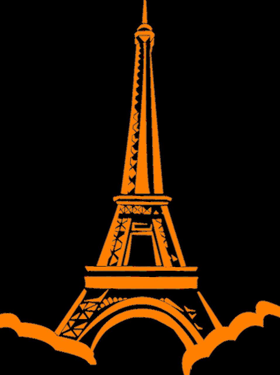 France eiffel tower landmark. French clipart themed paris