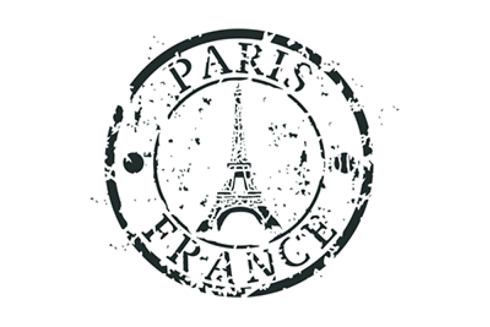 Paris stencil french flare. France clipart stamp france