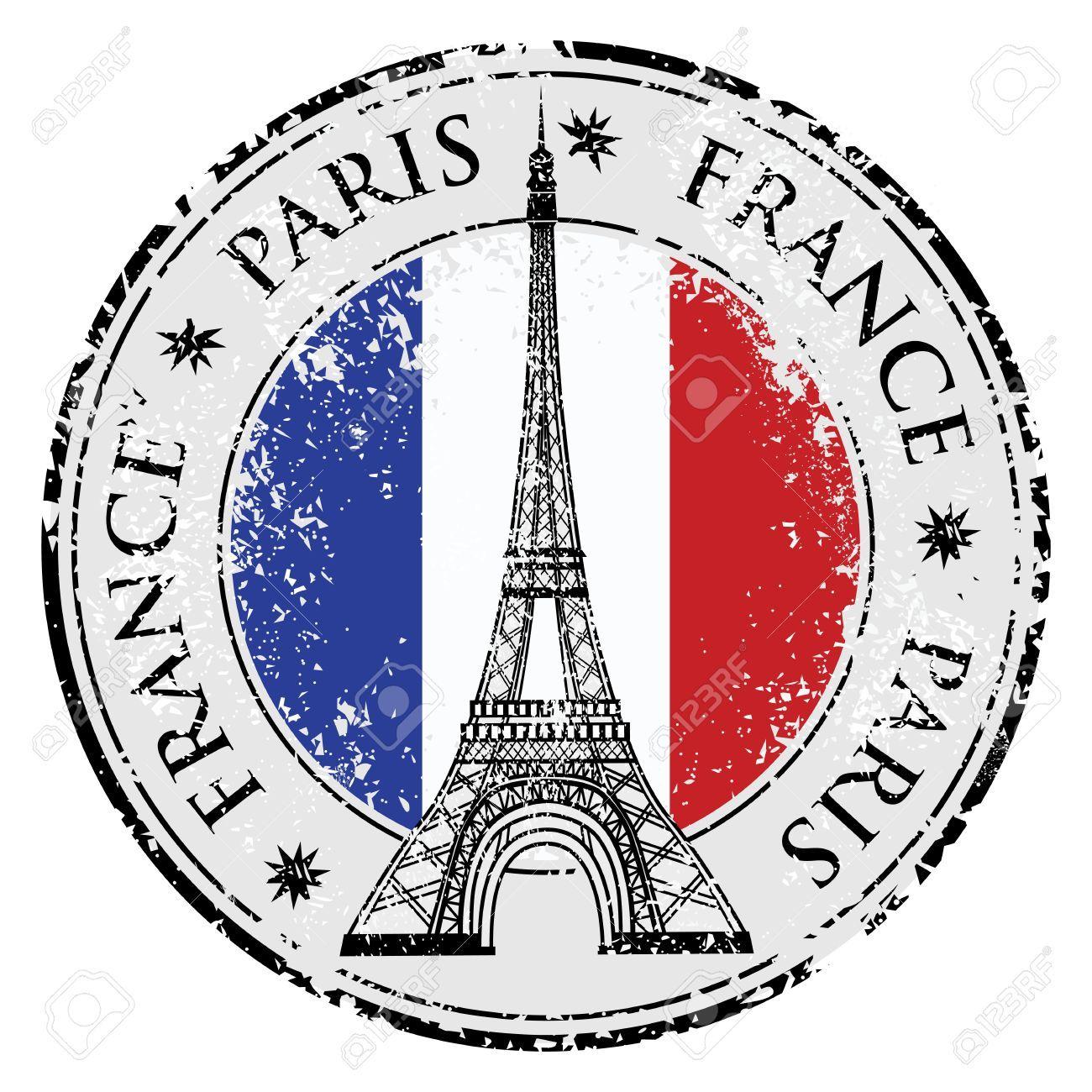 Stock vector paris eiffel. France clipart stamp france