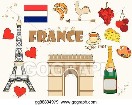 Eps vector symbols of. France clipart tourism france
