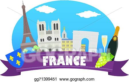 France clipart tourism france. Vector and travel