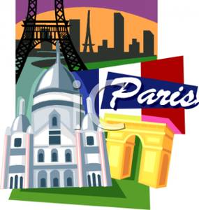 Poster for paris royalty. France clipart travel