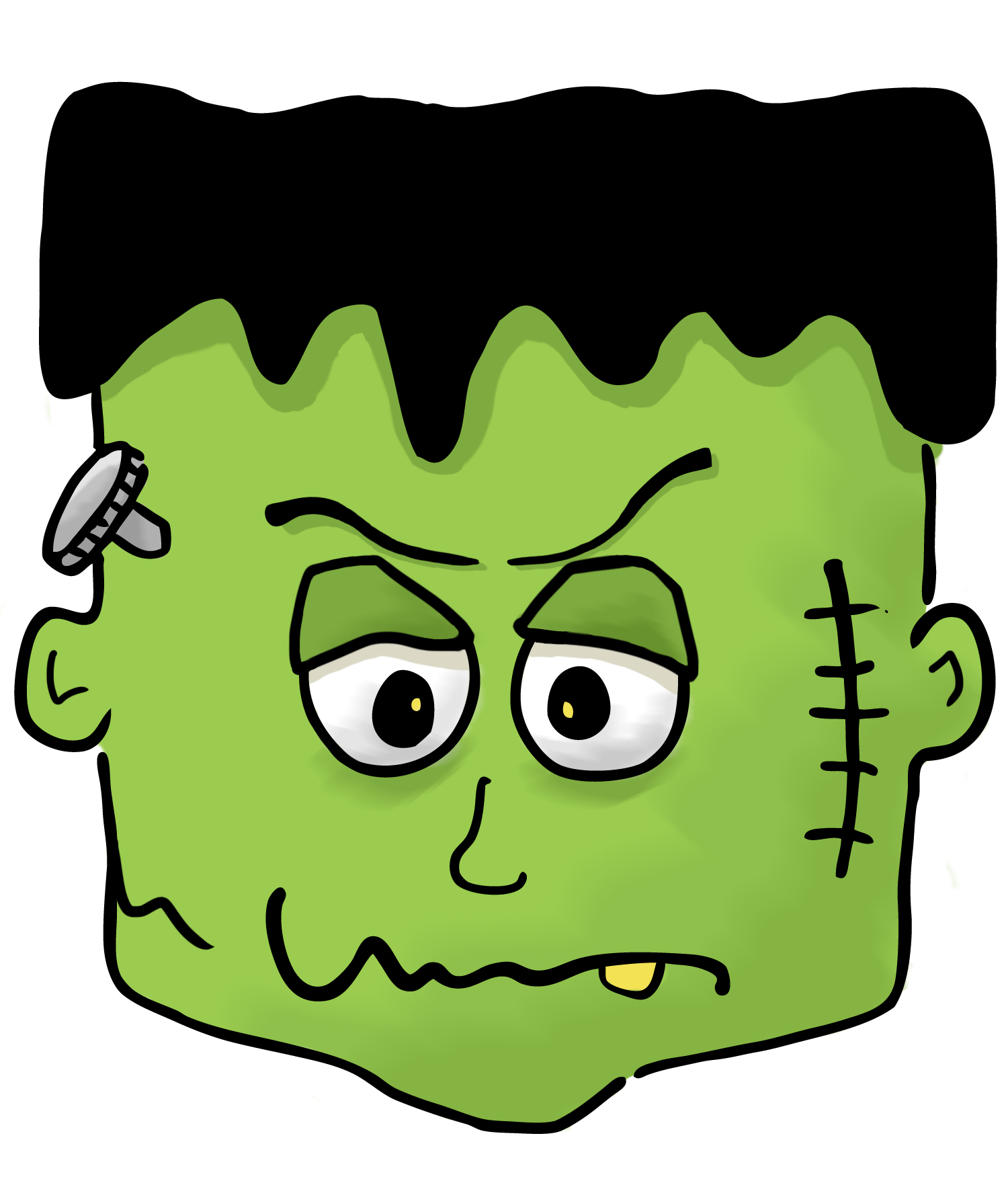 Halloween kid . Frankenstein clipart