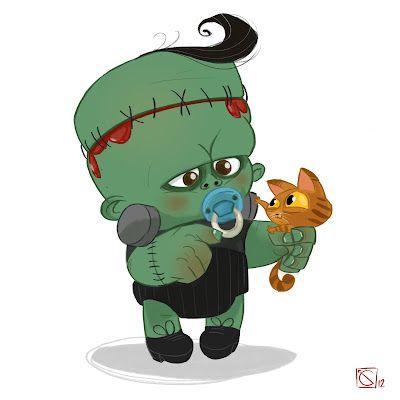 Motherhood in art . Frankenstein clipart baby