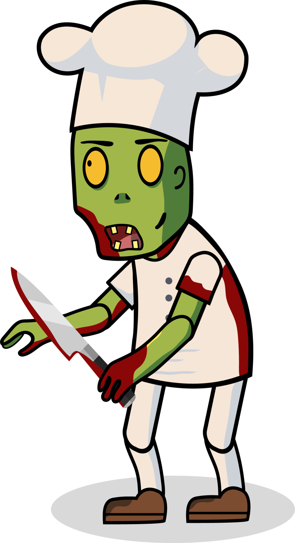 Blog thomas le vpng. Zombie clipart chef