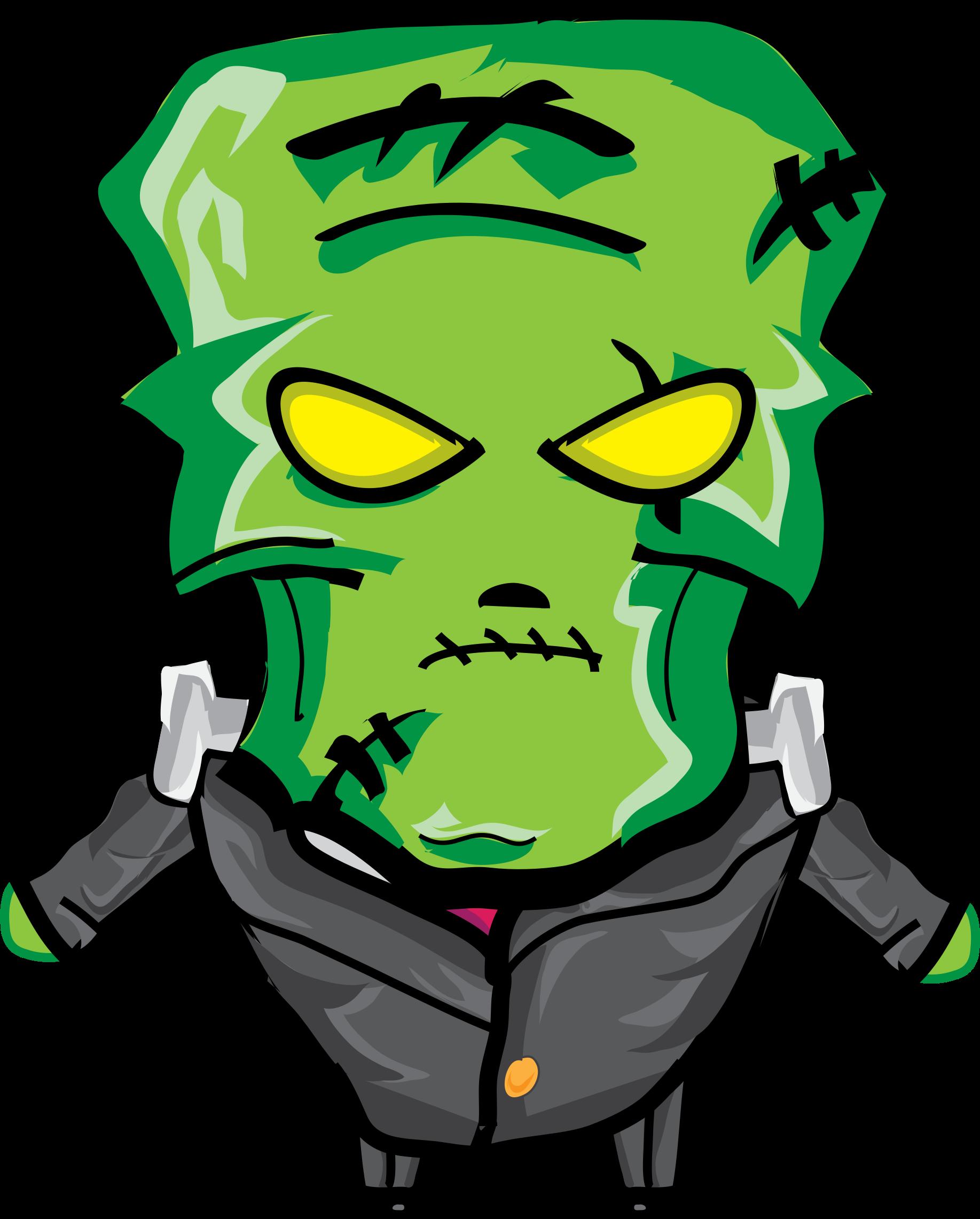 Frankenstein clipart cartoon frankenstein. Big image png