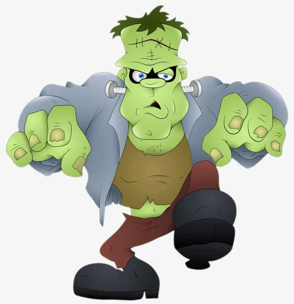 Png button . Frankenstein clipart cartoon frankenstein