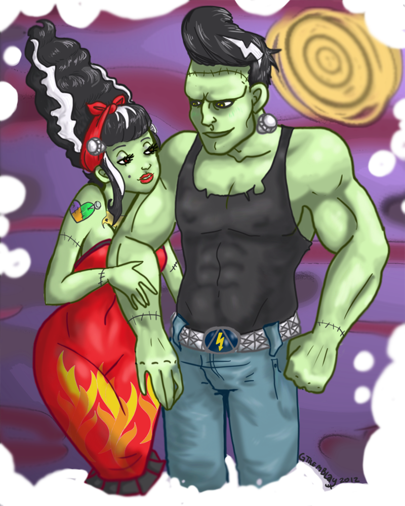 Made for eachother by. Frankenstein clipart classic monster