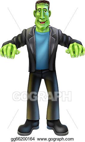 Frankenstein clipart classic monster. Eps illustration halloween cartoon