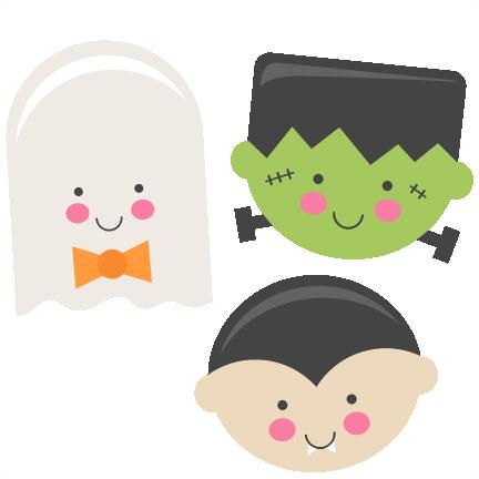 Frankenstein clipart cute. Large halloween set clipartix