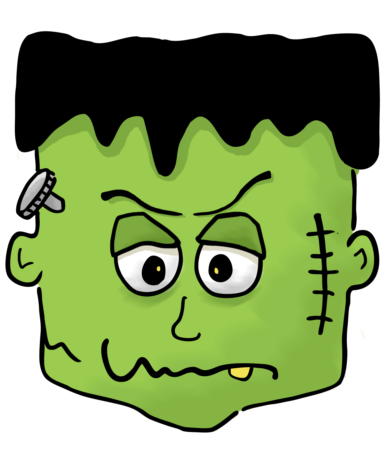 Pin by eric ashley. Frankenstein clipart cute happy