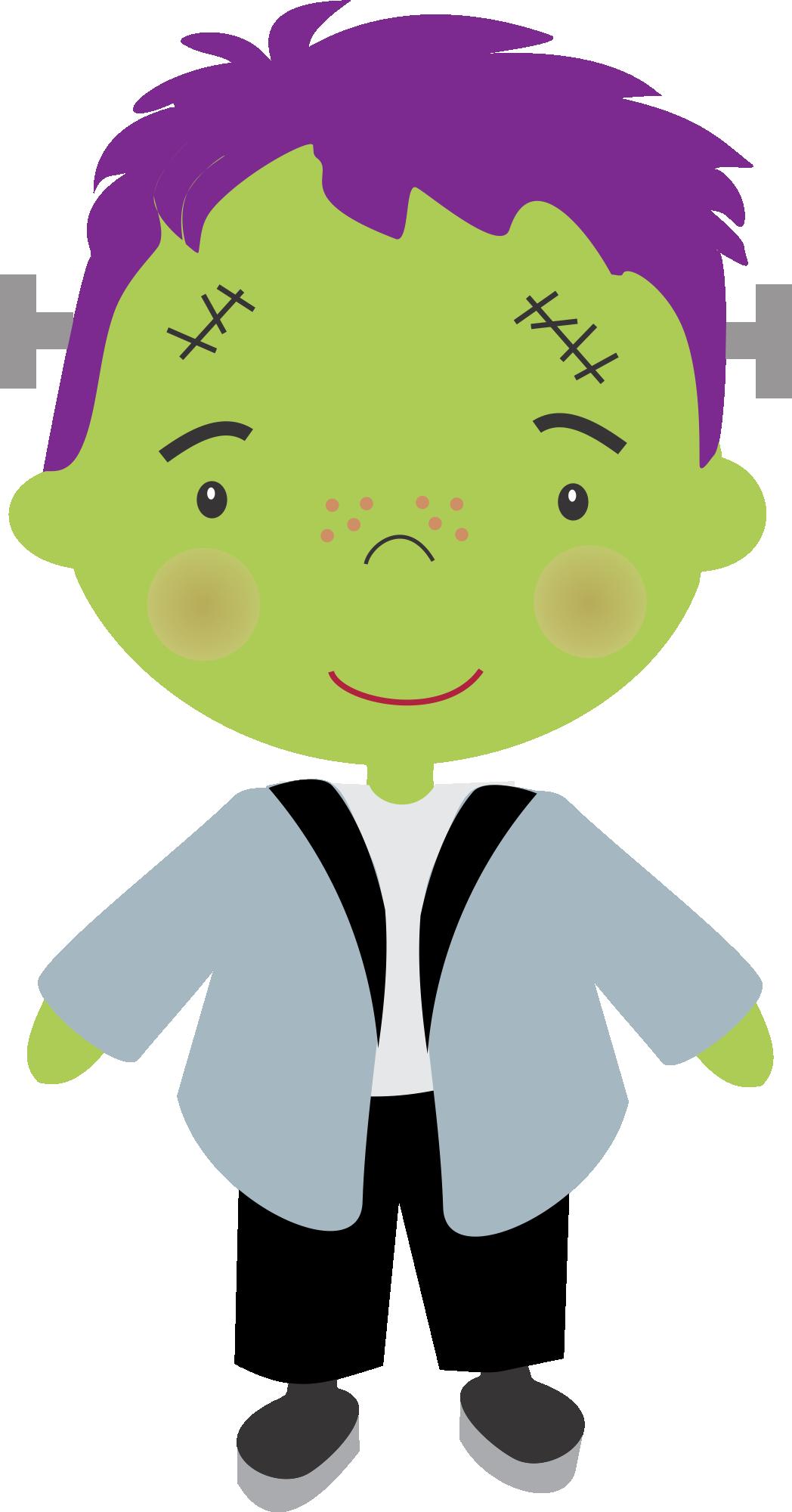 Frankenstein clipart cute happy. Halloween nini scrap kids