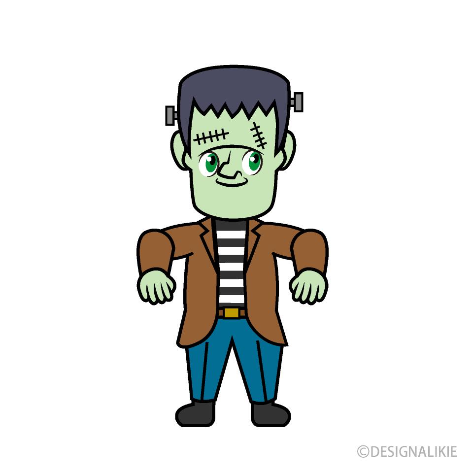 Cartoon free picture illustoon. Frankenstein clipart cute happy
