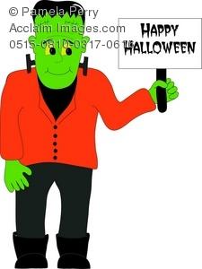 Free download best . Frankenstein clipart cute happy