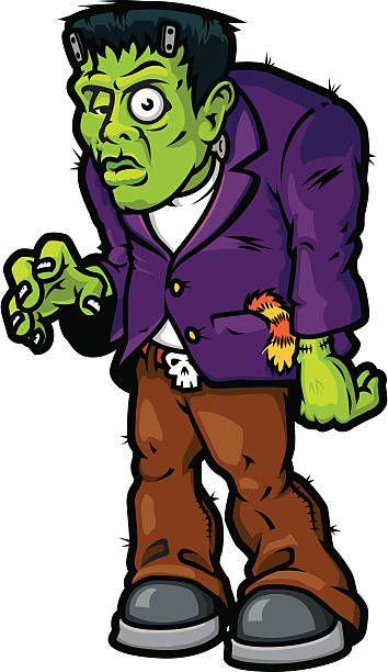 Halloween in . Frankenstein clipart decor