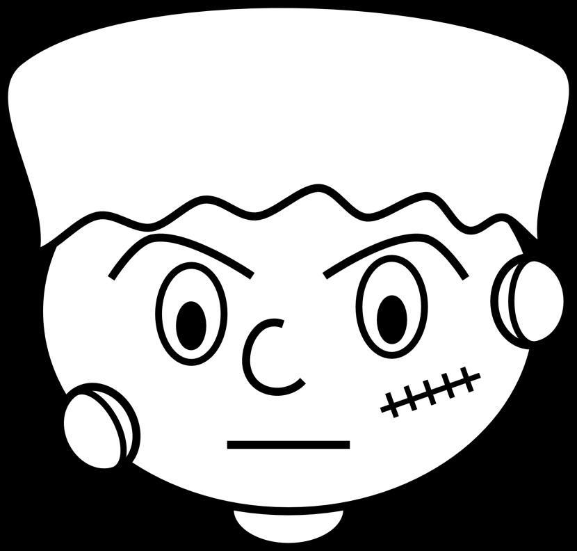 Face drawing at getdrawings. Frankenstein clipart dr frankenstein