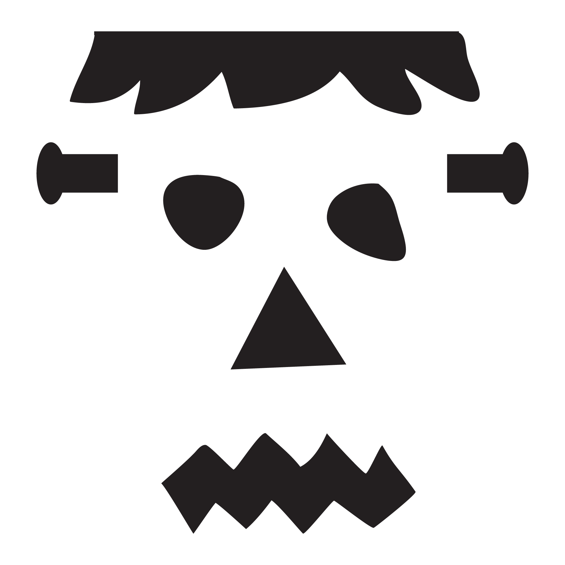 Frankenstein clipart easy.  collection of face
