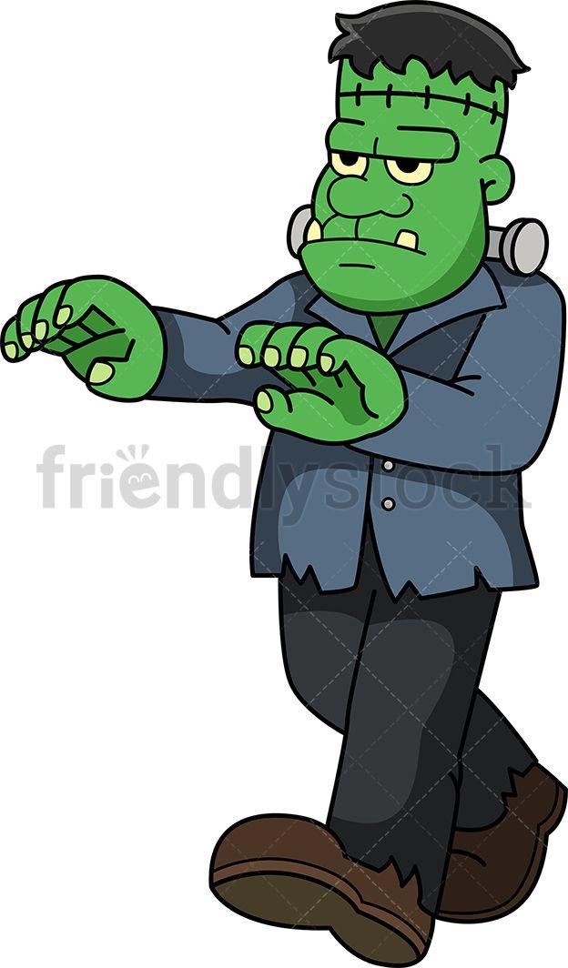 Green monster zombie s. Frankenstein clipart frankenstein's