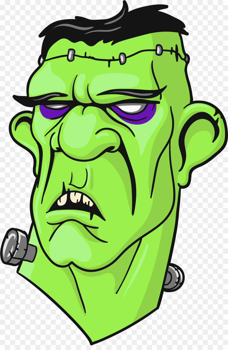 Frankenstein clipart frankenstein's. Head clip art png