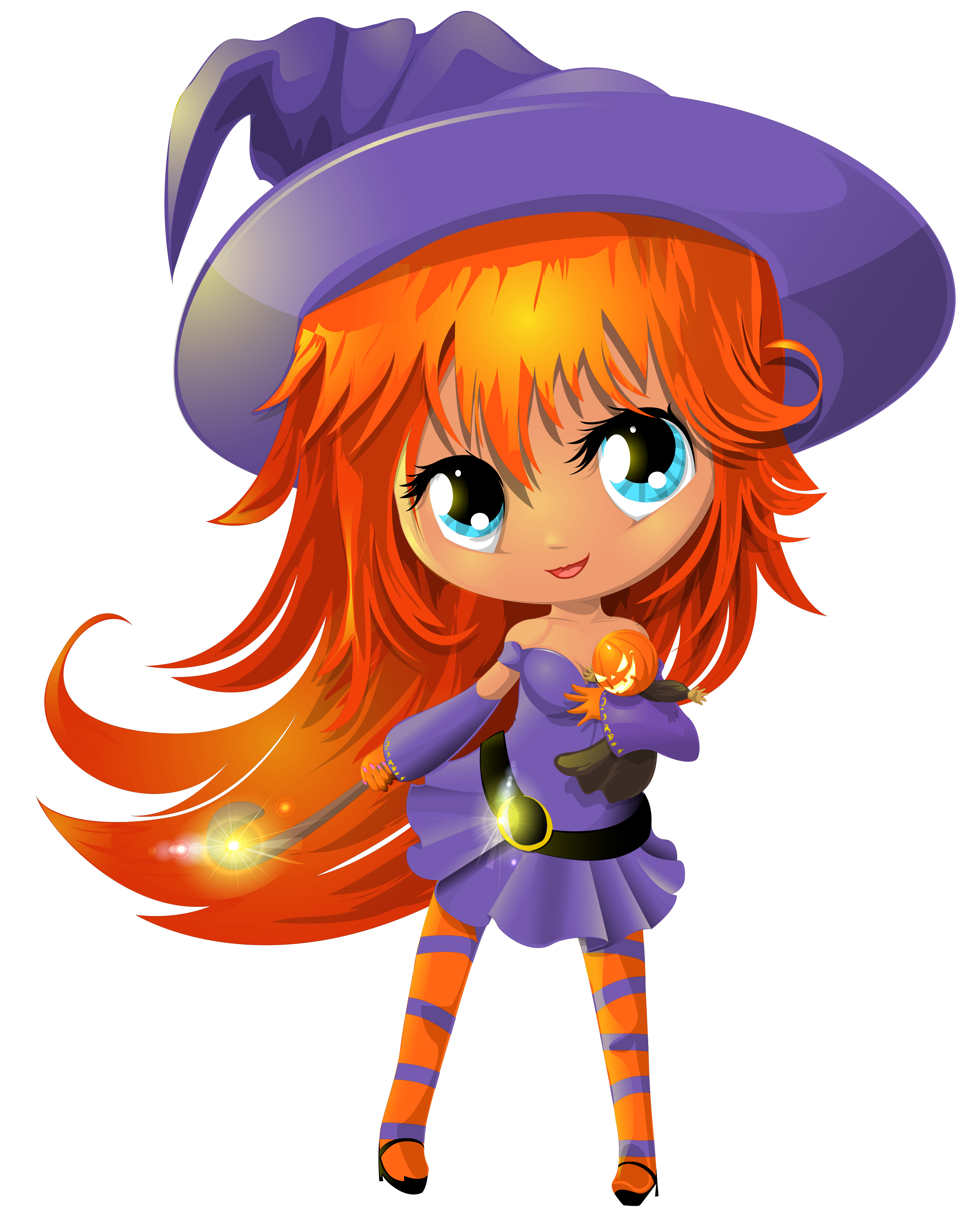 Free clip art vector. Witch clipart cute