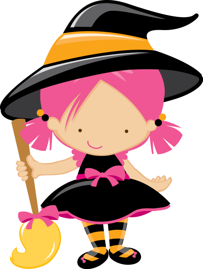 Witch clipart two. Cute little clip art