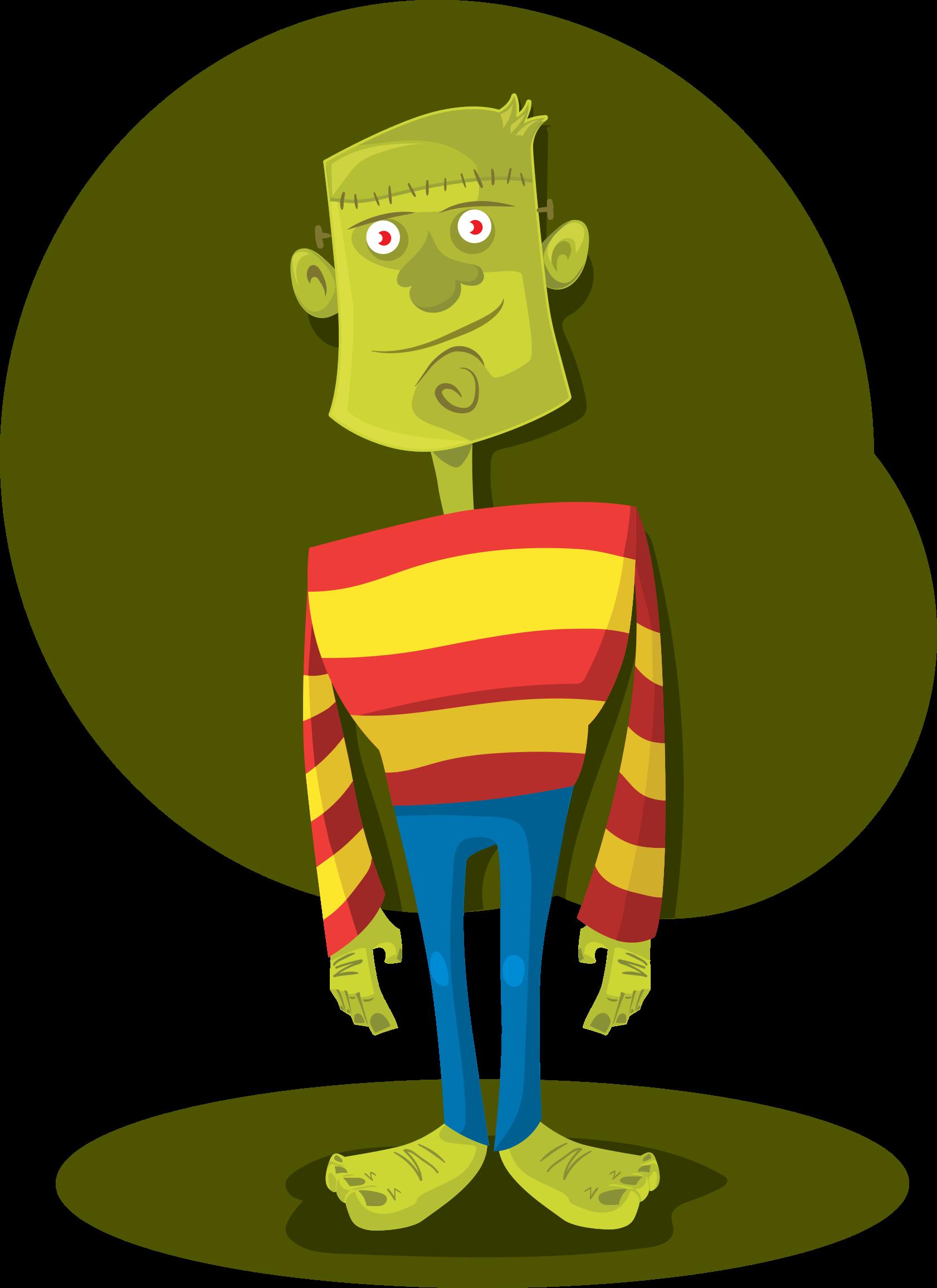 Frankenstein clipart green. Monster big image png