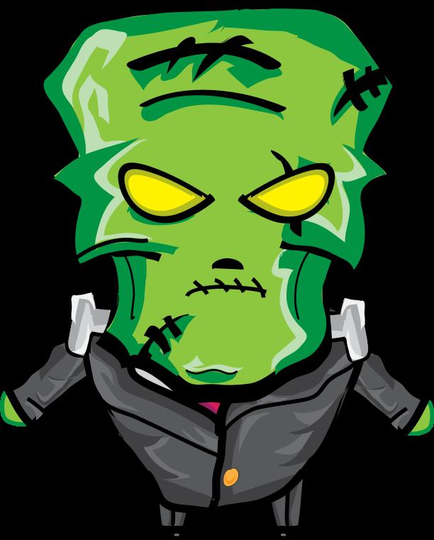 Medium image png . Frankenstein clipart green