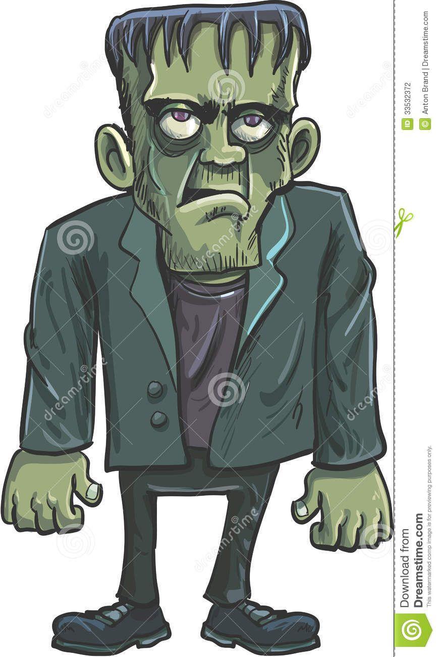 Cartoon pictures . Frankenstein clipart green