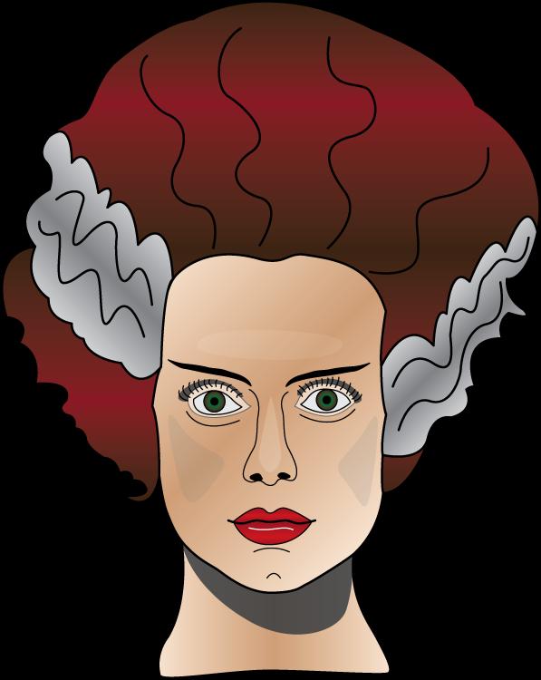 Hair clipart frankenstein. Elsa lanchester as the
