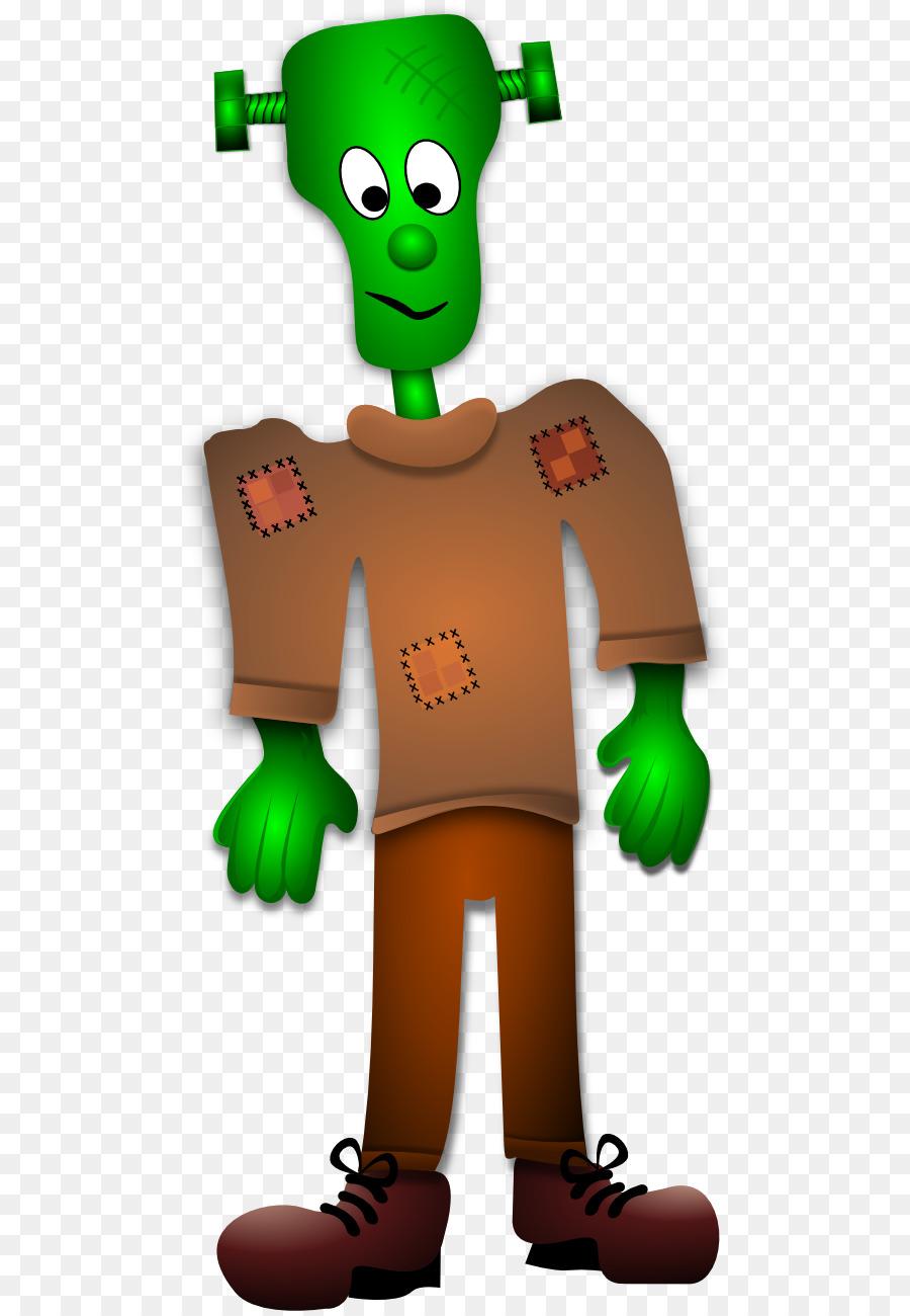 Frankenstein clipart hand. Monster cartoon transparent clip