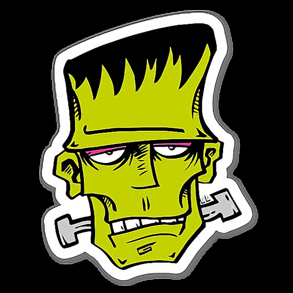 Sticker by ethanpalma . Frankenstein clipart head