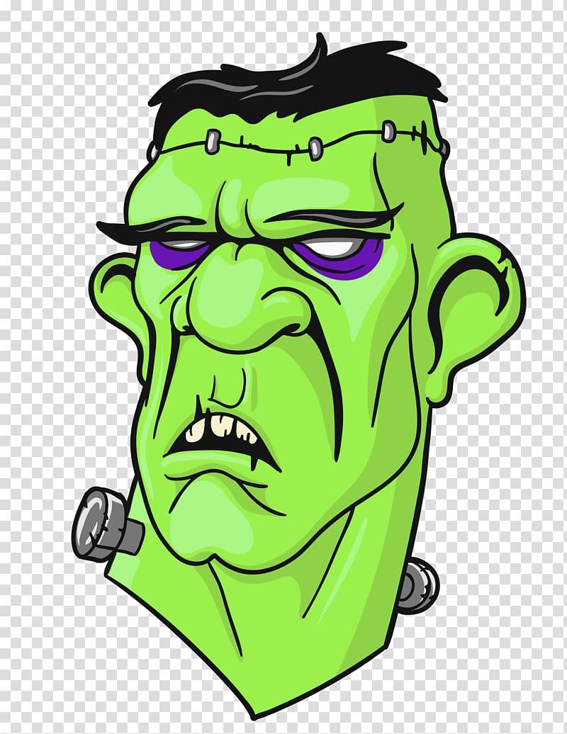 Illustration s monster . Frankenstein clipart head