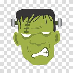 Frankenstein clipart head. Illustration colour icon