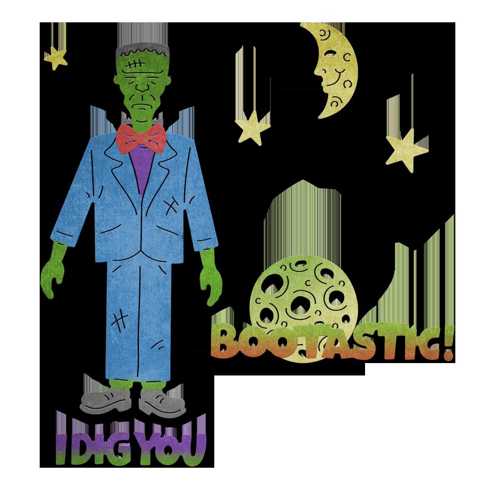 Frankenstein clipart item. Fun with piece die