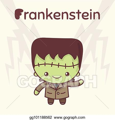 Clip art vector cute. Frankenstein clipart kawaii