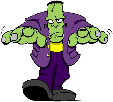 They shall know fear. Frankenstein clipart lab