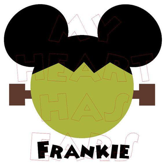 Printable diy digital clip. Frankenstein clipart mickey mouse halloween