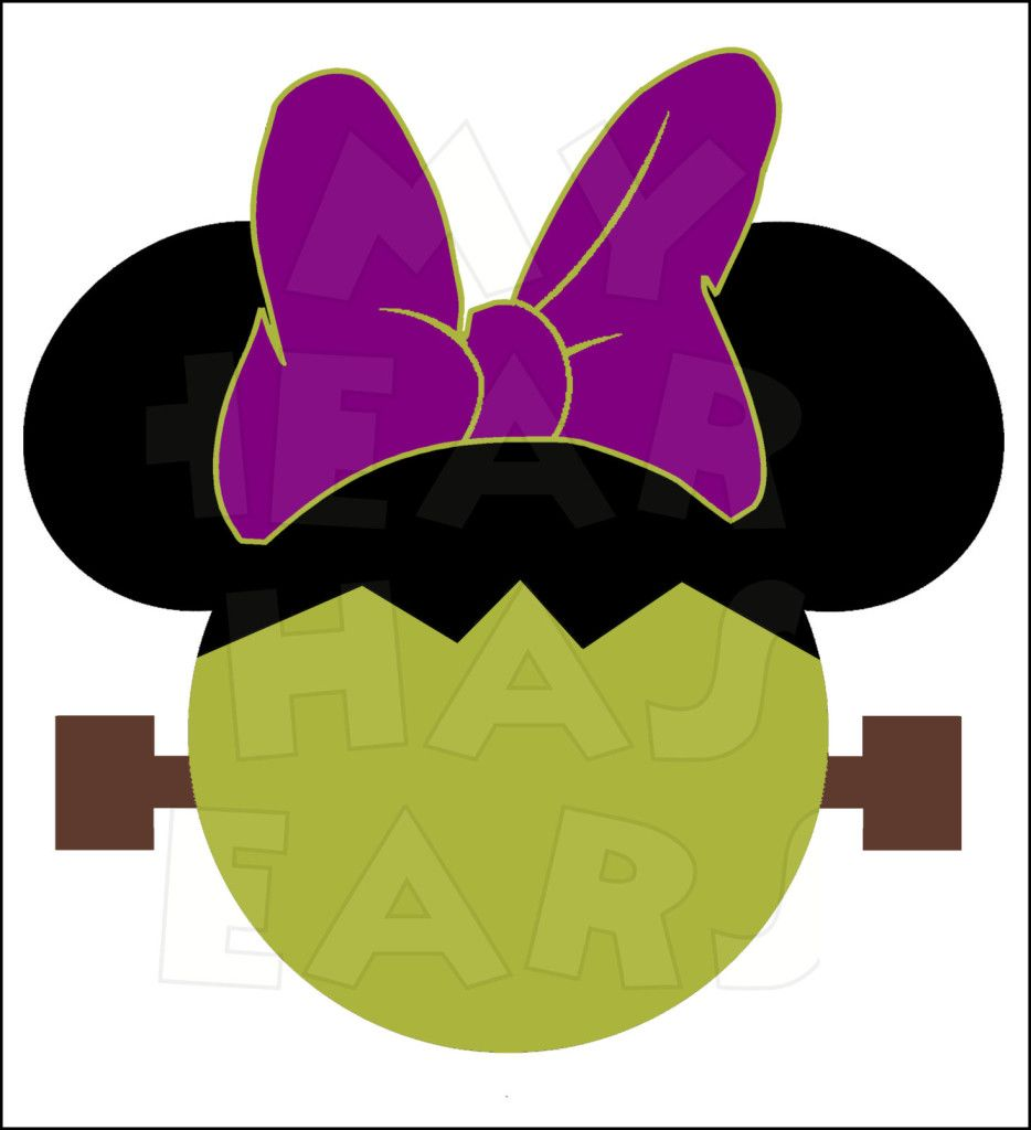 Frankenstein clipart minnie mickey. Mouse instant download halloween