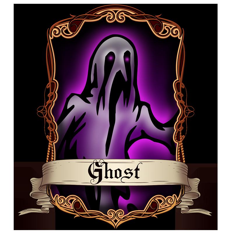 Coin moga ghost. Frankenstein clipart purple