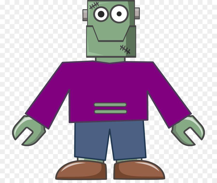 Cartoon green . Frankenstein clipart purple