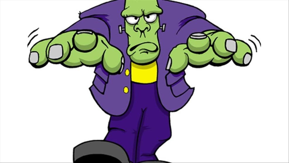 Frankenstein clipart purple. Baby born at florida