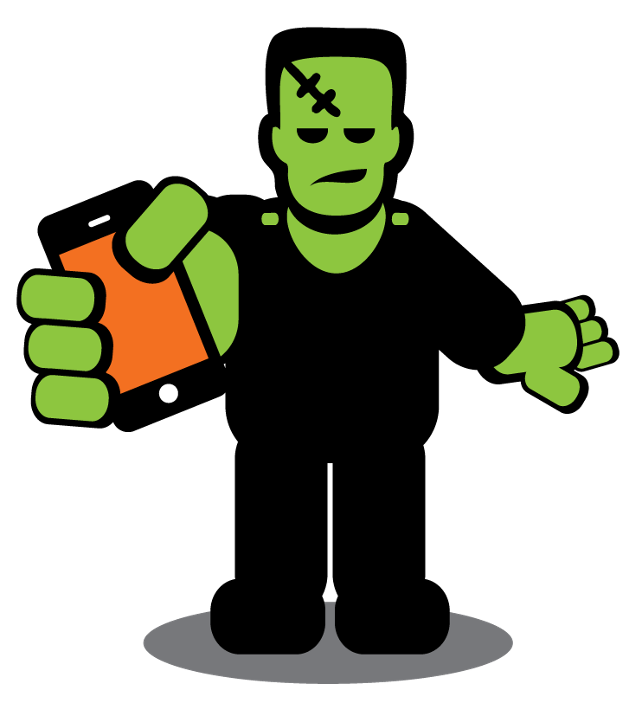 Frankenstein clipart scary. Some very mobile apps