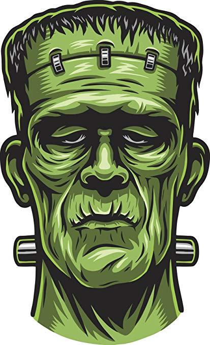 Frankenstein clipart scary. Shinobi stickers halloween undead